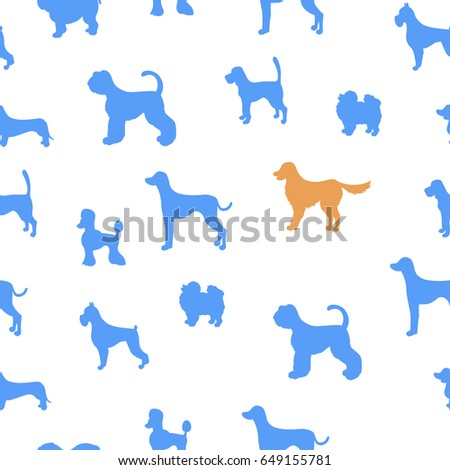 different dog breed silhouettes stock images, royalty-free images
