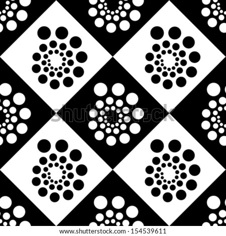 seamless pattern with dots and circles, vector illustration