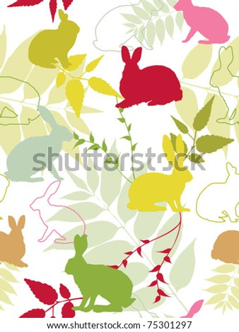 Seamless pattern with easter elements