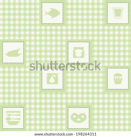 Seamless pattern with eat