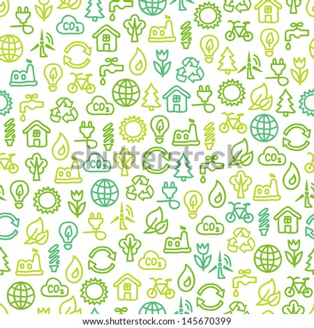 Seamless pattern with eco elements
