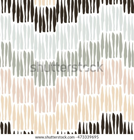 Seamless pattern with elements executed in ink. Lines, stripes. Texture for your design. Background. Hand drawn.