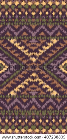Seamless pattern with ethnic aztec ornament. Boho style abstract wallpaper. Carpet imitation.