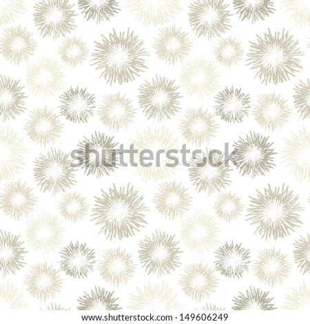 Seamless pattern with feathers. Soft pastel texture. Cute background