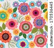 Seamless pattern with flower  - stock photo