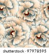 seamless pattern with flowers - stock photo