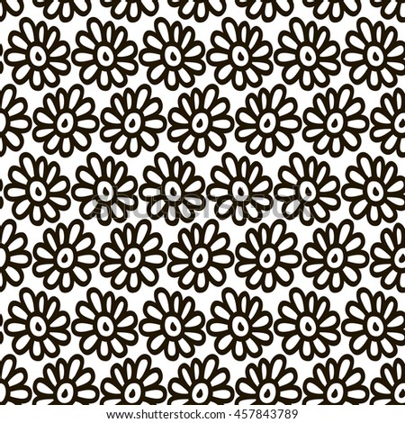 Seamless pattern with flowers. Delicate floral background.