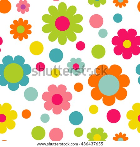Seamless  pattern with flowers. Seamless floral wallpaper  - stock vector