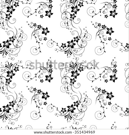Seamless pattern with flowers. Vintage retro floral background. Flowers in vector with design floral elements. Flowers texture. - stock vector