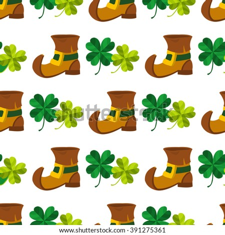 4 clovers and leprechaun costumes images