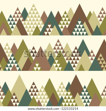 Seamless pattern with geometric mountains #2