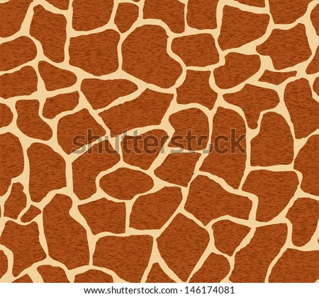 Seamless pattern with giraffe spots. Vector illustration - stock vector