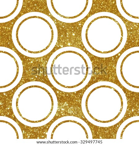 Seamless pattern with gold glitter texture. - stock vector