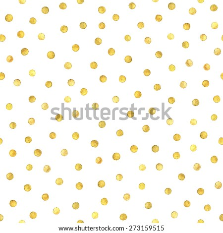 Seamless pattern with gold painted dots. - stock vector
