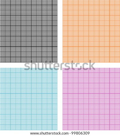 Seamless pattern with graph paper - stock vector