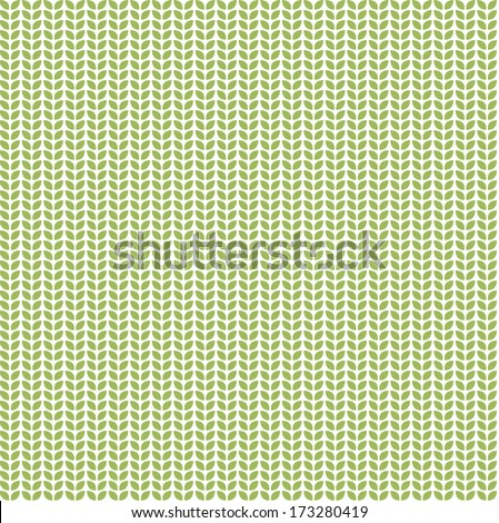 Seamless pattern with green eco leaves - stock vector