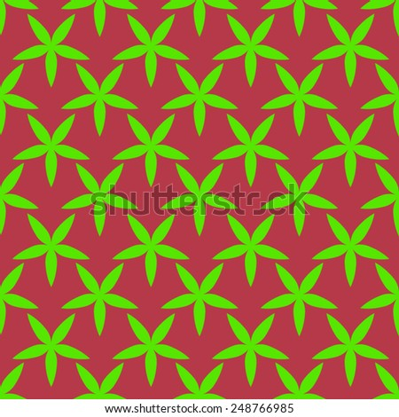 Seamless pattern with green leaves.