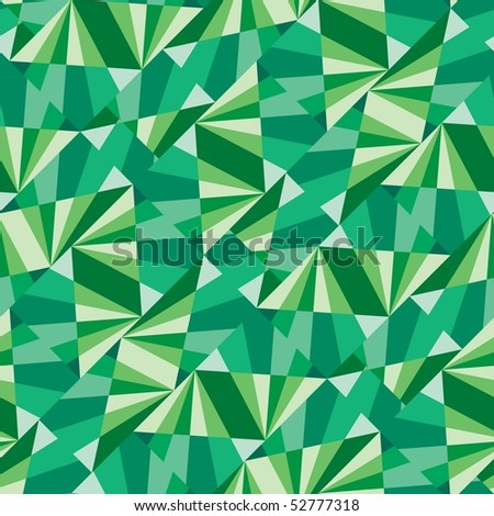 Seamless pattern with green tiles