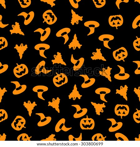 seamless pattern with Halloween