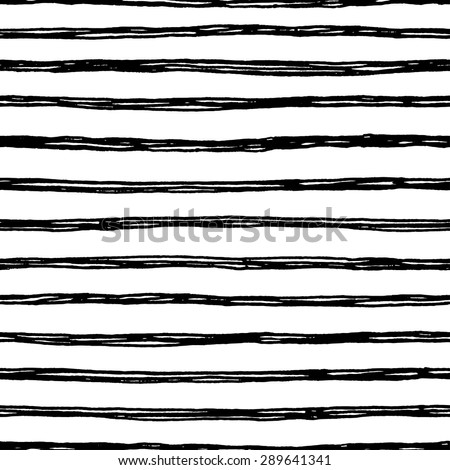 Seamless pattern with hand drawn lines. Ink illustration. Striped background. - stock vector