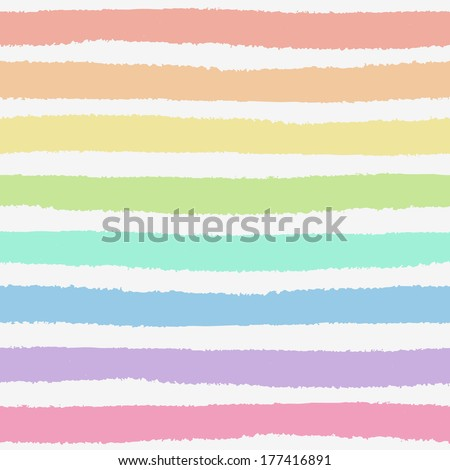 Seamless pattern with hand painted brush strokes, striped background. Vector illustration - stock vector