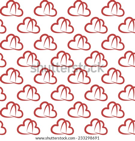 Seamless pattern with hearts for love. Stylish valentines background. Vector repeating texture. - stock vector