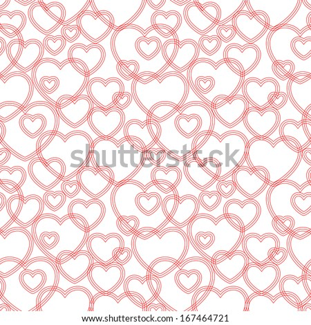 Seamless pattern with hearts, vector  - stock vector