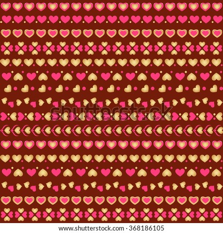 Seamless pattern with hearts. Vector illustration - stock vector