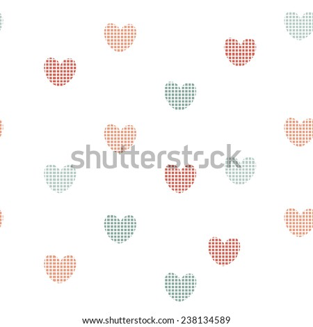 Seamless pattern with hearts. Vector illustration. Endless texture. - stock vector