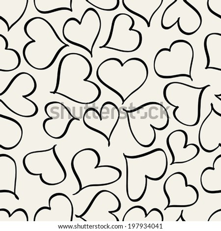 Seamless pattern with hearts. Vector repeating texture. Vector abstract background.
