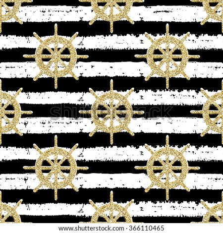 Seamless pattern with helms for adventure, for wrapping, wallpaper, textile - stock vector