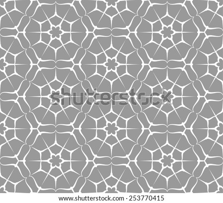 Seamless pattern with hexagon and stars. Vector abstract background.