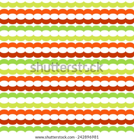 Seamless pattern with horizontal chains - stock vector