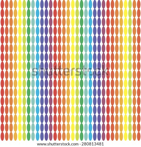 Seamless pattern with horizontal ellipses chains. Endless texture can be used for fawn wallpaper, pattern fill, web page background. - stock vector