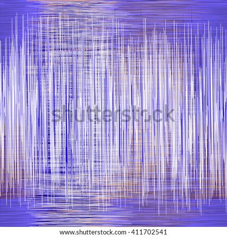 Seamless pattern with intersected  vertical and horizontal grunge zigzag stripes in blue,white,orange colors - stock vector
