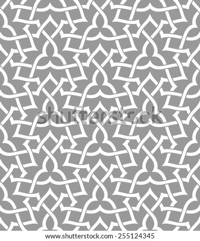 Seamless pattern with intersecting stripes. Abstract pattern in Arabic style.
