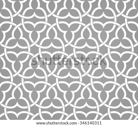 Seamless pattern with intersecting stripes. Abstract pattern in Arabic style. - stock vector