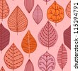 seamless pattern with leaf,autumn leaf background - stock vector
