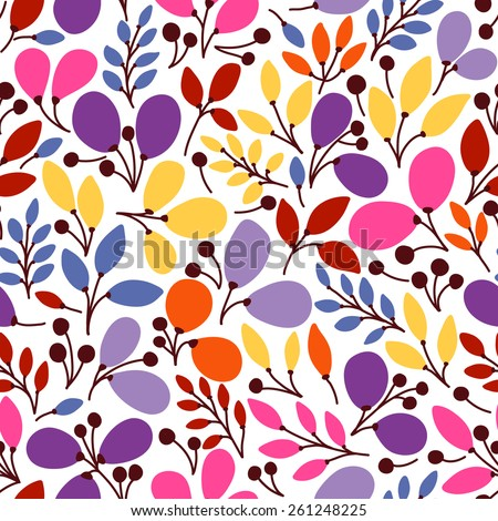 Seamless pattern with leaves. It can be used for desktop wallpaper or frame for a wall hanging or poster,for pattern fills, surface textures, web page backgrounds, textile and more. - stock vector