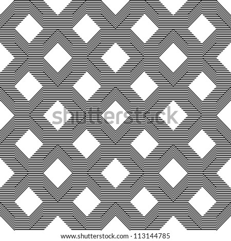 Seamless pattern with line black and white - stock vector