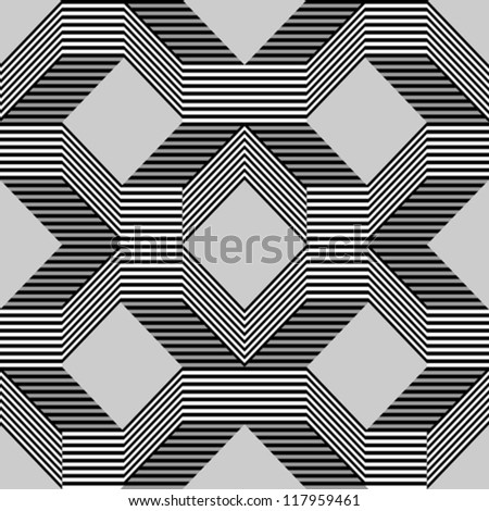 Seamless pattern with lines gray - stock vector