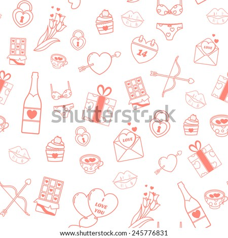 seamless pattern with love's elements.  - stock vector