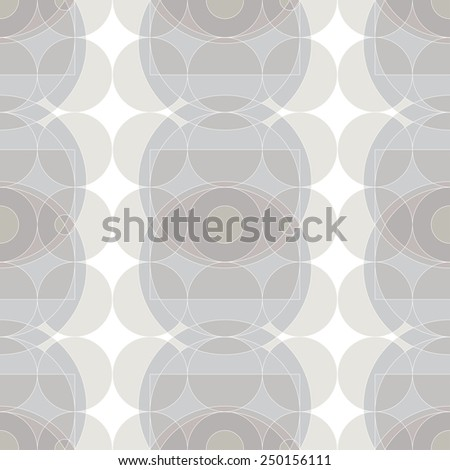 Seamless Pattern with Minimalistic Eyes,Circles and Pale Colors - stock vector