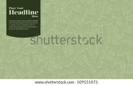 Seamless pattern with mushroom - stock vector
