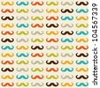 Seamless pattern with mustache - stock vector