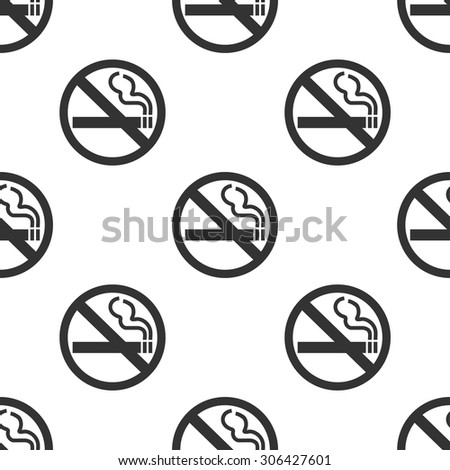 seamless pattern with no smoking - stock vector