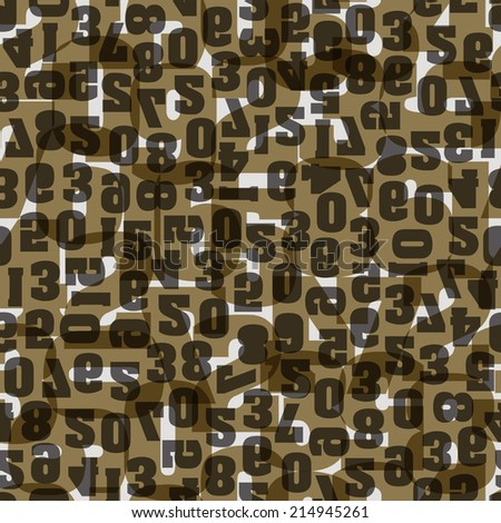 Seamless pattern with numbers .for design fabric,backgrounds, package, wrapping paper, covers, fashion - stock vector