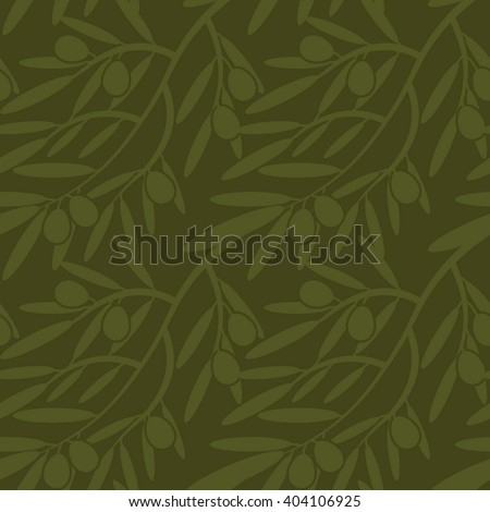 Seamless pattern with olive branches. Retro decorative texture background for textile,paper,labels and etc. Vector - stock vector