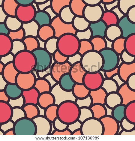 Seamless pattern with overlapping rings. Vector illustration - stock vector