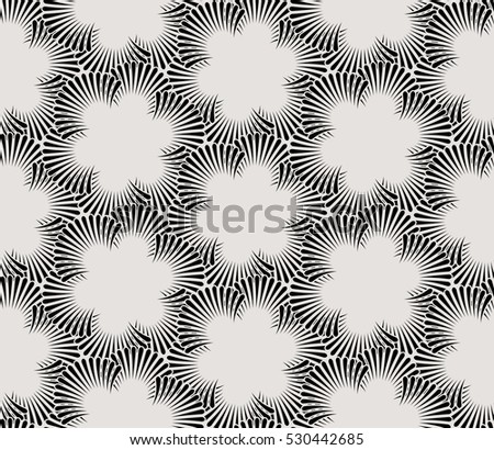 Seamless pattern with palm branches. Stylish texture of repeating geometric shapes.